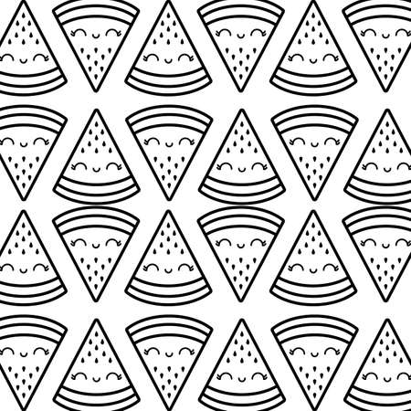 pattern of slices of watermelons   vector illustration design