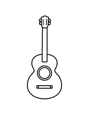 mexican guitar in white background vector illustration design