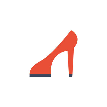 high heel shoes on white background , footwear on sale vector illustration design