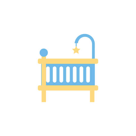 baby cradle design, Child newborn childhood object innocence and little theme Vector illustration