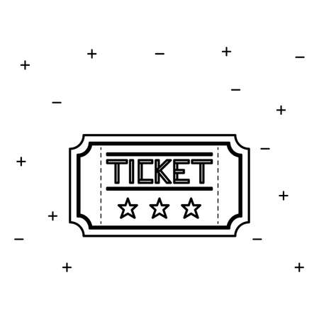 ticket cinema movie isolated icon vector illustration design