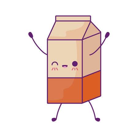 milk in box style vector illustration design