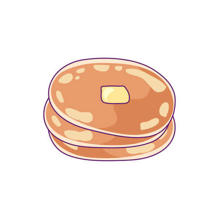 delicious pancake fresh isolated icon vector illustration design Ilustração