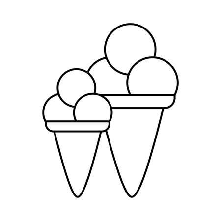 set of delicious ice creams isolated icon vector illustration design