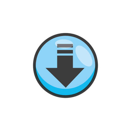 arrow download button isolated icon vector illustration design