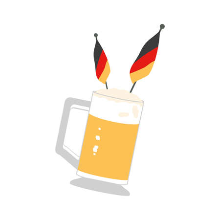jar of beer with germany flag oktoberfest festival vector illustration design