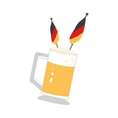 jar of beer with germany flag oktoberfest festival vector illustration design