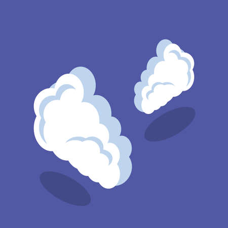 clouds shape in blue background vector illustration design 스톡 콘텐츠 - 140112040