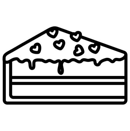 piece of cake over white background, vector illustration