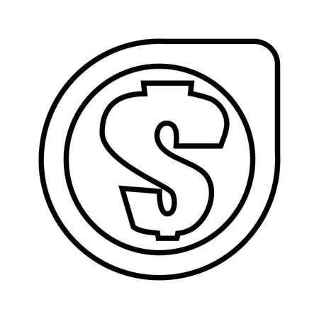 money symbol with ribbon vector illustration design