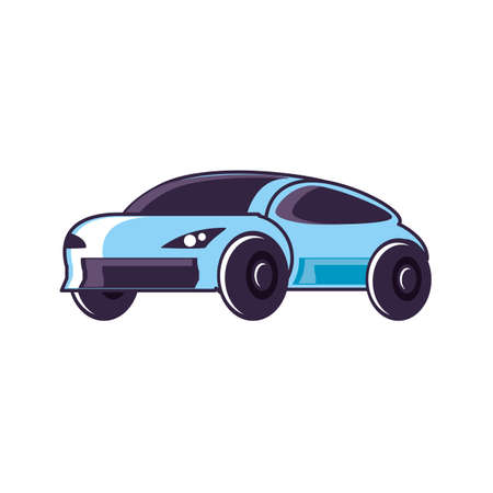 car sedan transportation isolated icon vector illustration design
