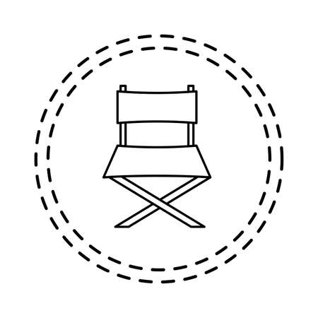 patch of cinema chair director isolated icon vector illustration design