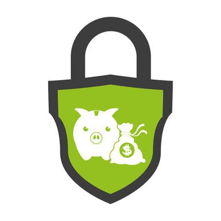 piggy savings isolated icons vector illustration design Stock Illustratie
