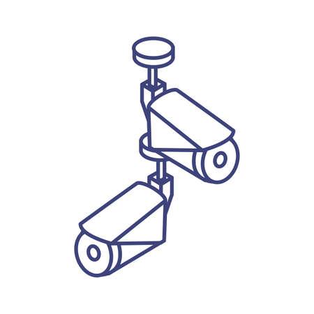 surveillance camera in white background vector illustration design Ilustrace