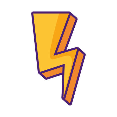 cute ray thunder icon vector illustration design Ilustração