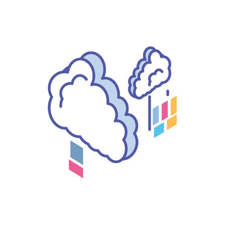clouds shape in white background vector illustration design