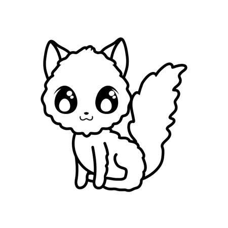 cute cat on white background vector illustration design 일러스트