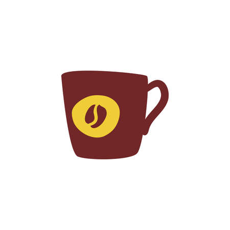 cup of coffee with white background vector illustration design