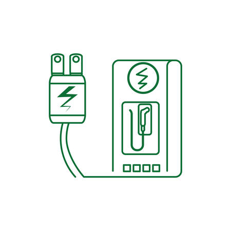 energy plug electric with energy electric service station vector illustration design Illusztráció