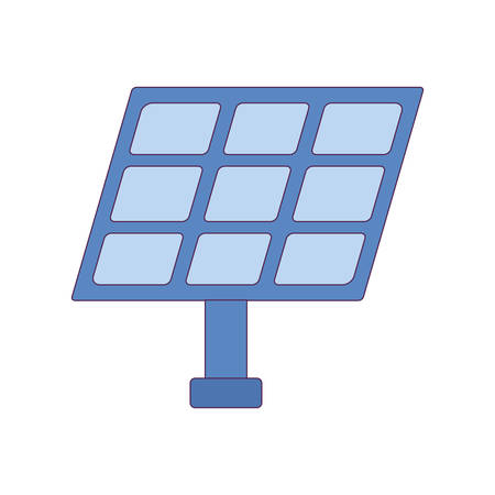 Solar panel design, Save energy power eco sustainable and environmental theme Vector illustration