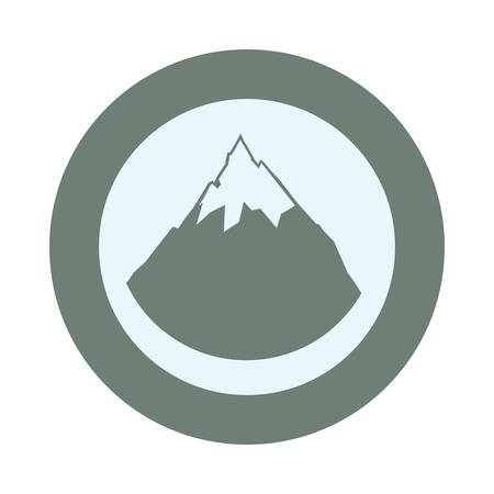 alpine mountain with snow vector illustration design