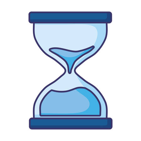 Sand hourglass design, Time timer clock glass countdown sandglass watch hour and deadline theme Vector illustration