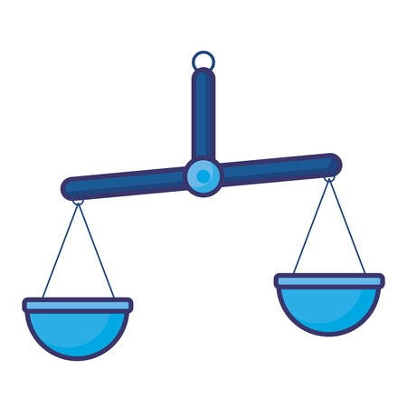 Law scale design, Justice legal judgment judical authority freedom veridict attorney and crime theme Vector illustration