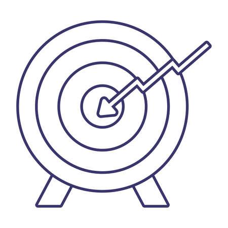 Target icon design, Solution success strategy idea problem innovation creativity inspiration and intelligence theme Vector illustration
