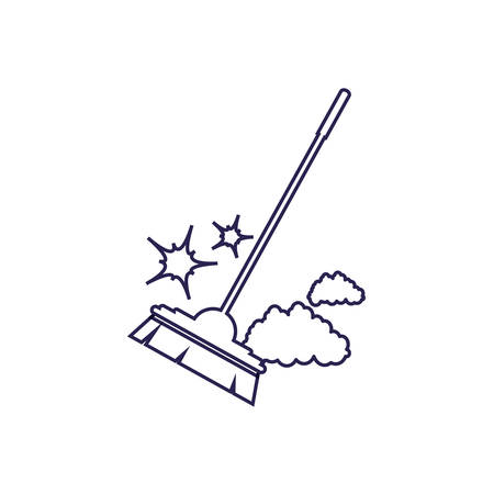 Cleaning brush design, Object home work hygiene equipment domestic and housework theme Vector illustration