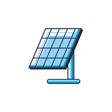 solar panel energy isolated icon vector illustration design Çizim