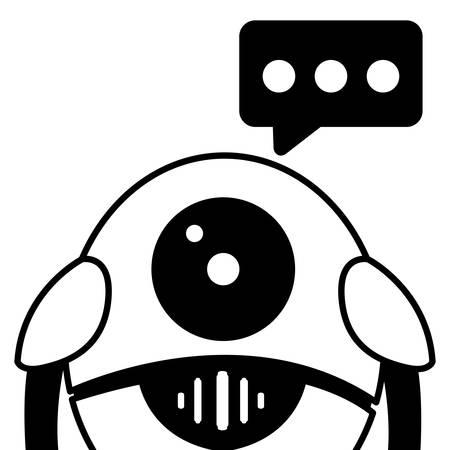 Robot design, Robotic tecnology futuristic toy machine cyborg science and theme Vector illustration Vektorové ilustrace