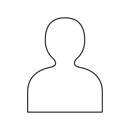 silhouette person avatar isolated icon vector illustration design