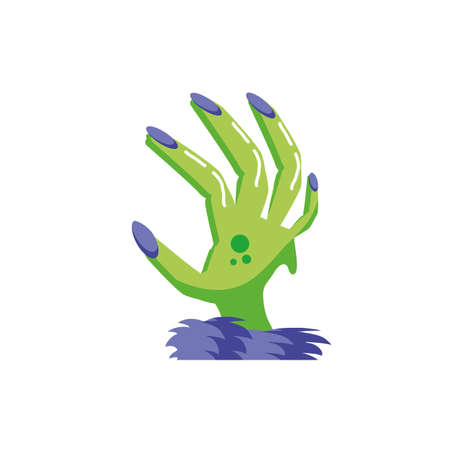 zombie hand in white background vector illustration design Illustration