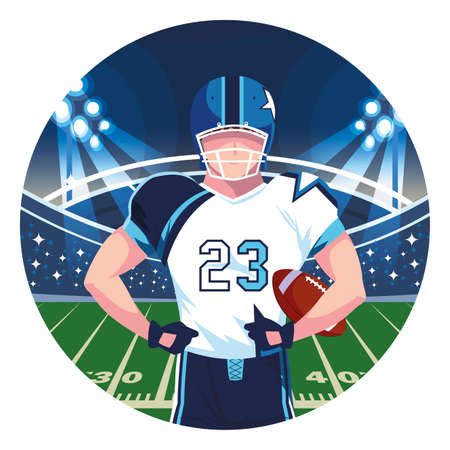man player american football , sportsman with uniform vector illustration design Иллюстрация