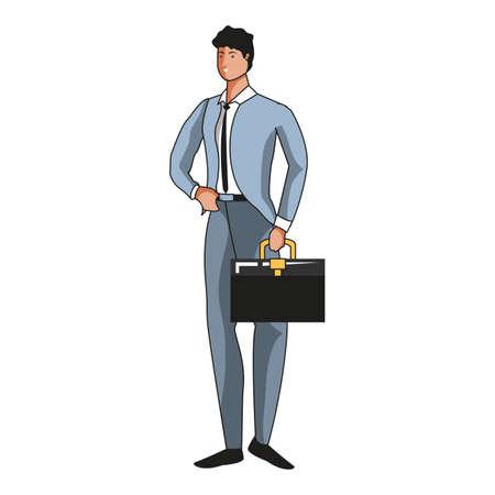 elegant businessman worker avatar character vector illustration design Çizim