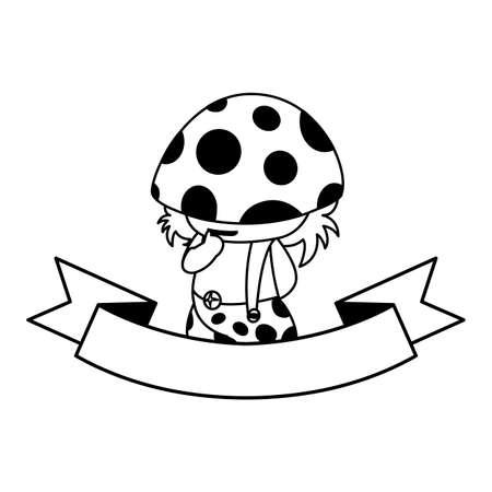 fungu elf magic character vector illustration design