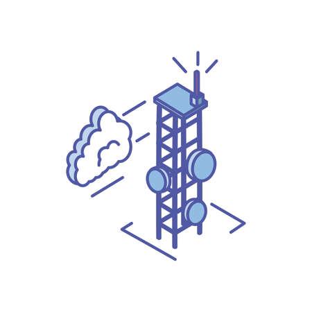 telecommunications tower in white background vector illustration design Reklamní fotografie - 140632106