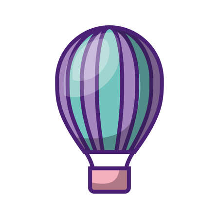 air balloon retro device with color pastel vector illustration design