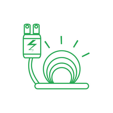 energy plug electric isolated icon vector illustration design Illusztráció