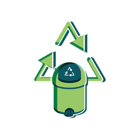 Trash design, Sustainability eco friendly green recycle ecology renewable and solution theme Vector illustration Ilustração