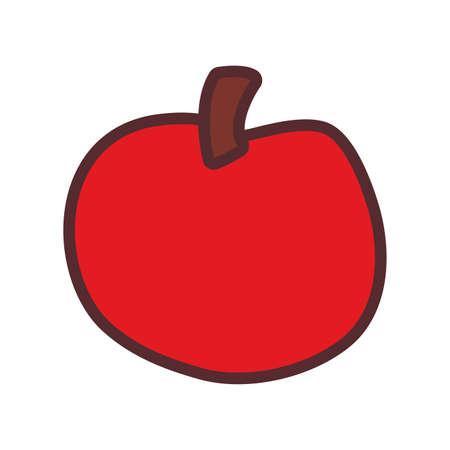 apple fresh delicious fruit nutrition vector illustration