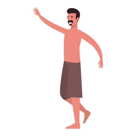 summer time holiday man with tshirt and shorts vector illustration