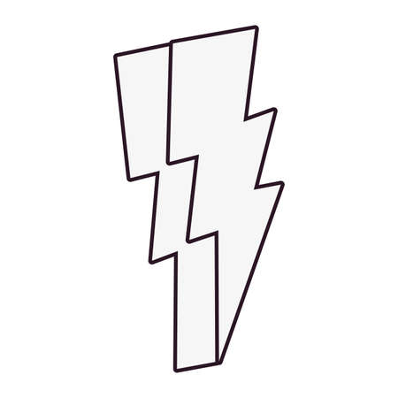 thunderbolt comic pop art on white background vector illustration Ilustração