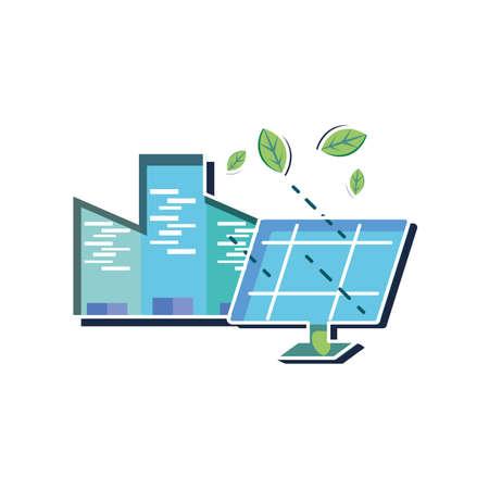 Solar panel design, Sustainability eco friendly green recycle ecology renewable and solution theme Vector illustration Ilustração