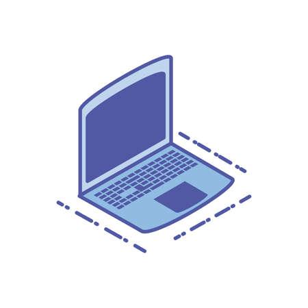 open laptop on white background vector illustration design Ilustracja