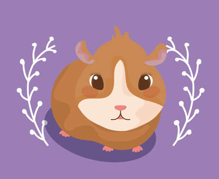 cute guinea pig baby animal vector illustration design Illustration