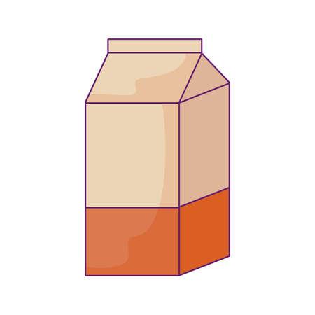 delicious box milk isolated icon vector illustration design