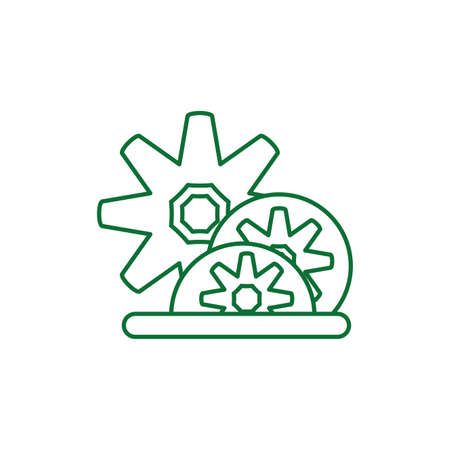gears pinions machines isolated icon vector illustration design