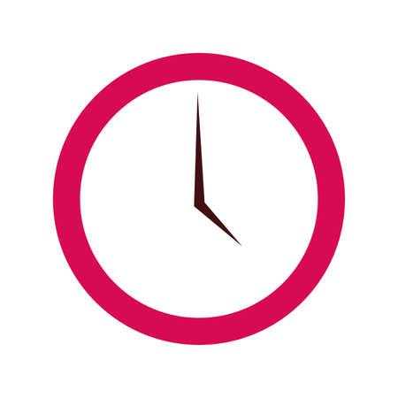 round clock on white background vector illustration Ilustrace