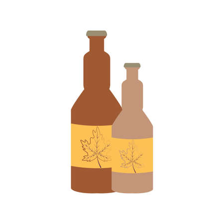 bottles beers oktoberfest festival icons vector illustration design